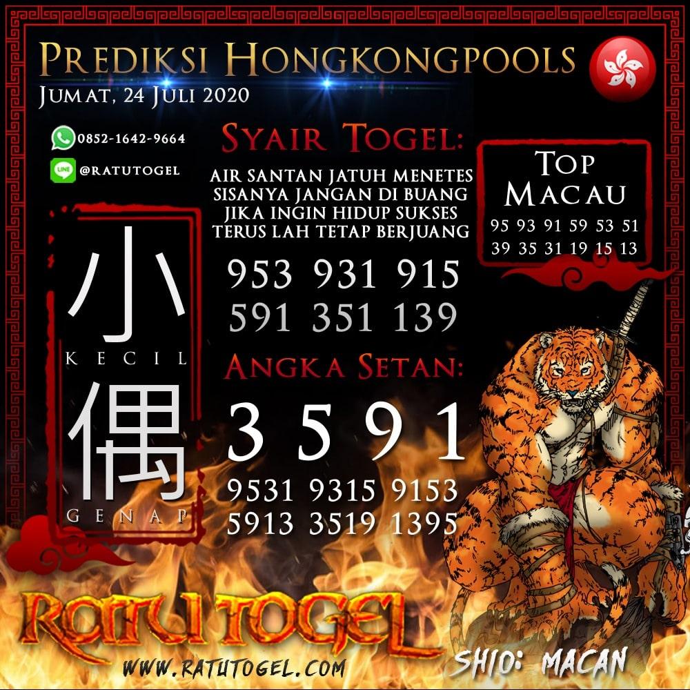 BOCORAN TOGEL HONGKONGPOOLS JUMAT, 24 JULI 2020 - NAGASAON