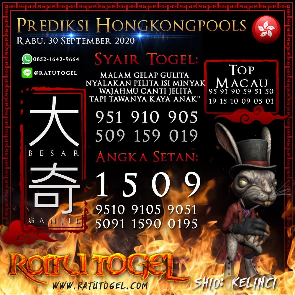 Prediksi HK Rabu 30 September 2020 | Bocoran hongkongpools 90% Akurat