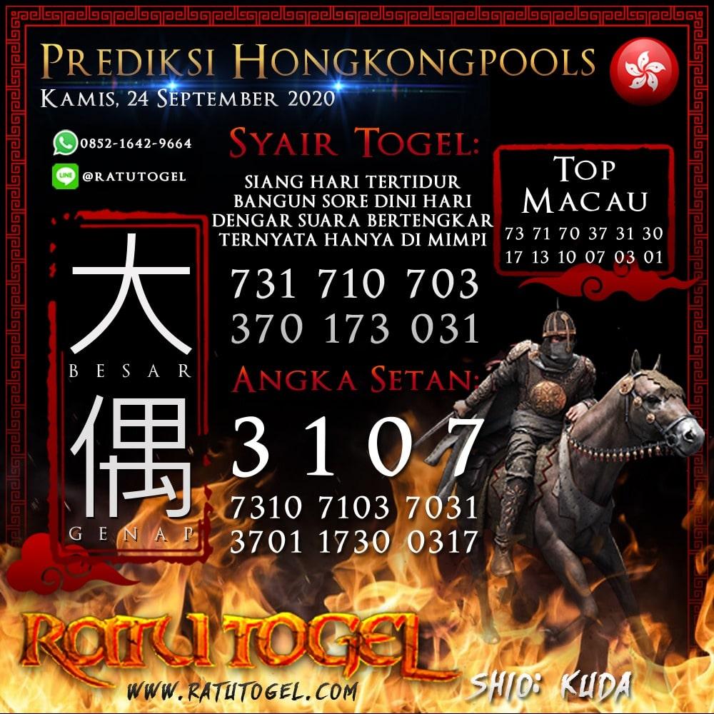 Prediksi HK Kamis 24 September 2020 | Bocoran hongkongpools 90% Akurat