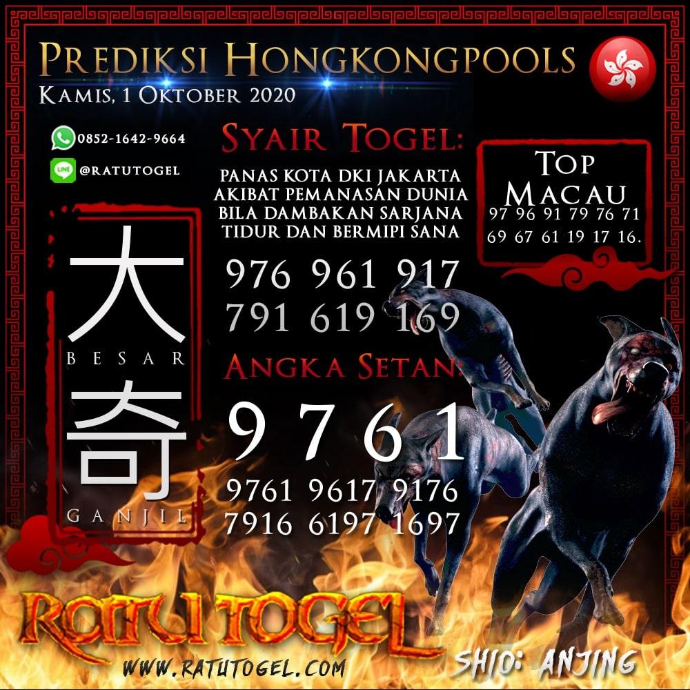 Prediksi HK Rabu 01 Oktober 2020 | Bocoran hongkongpools 90% Akurat
