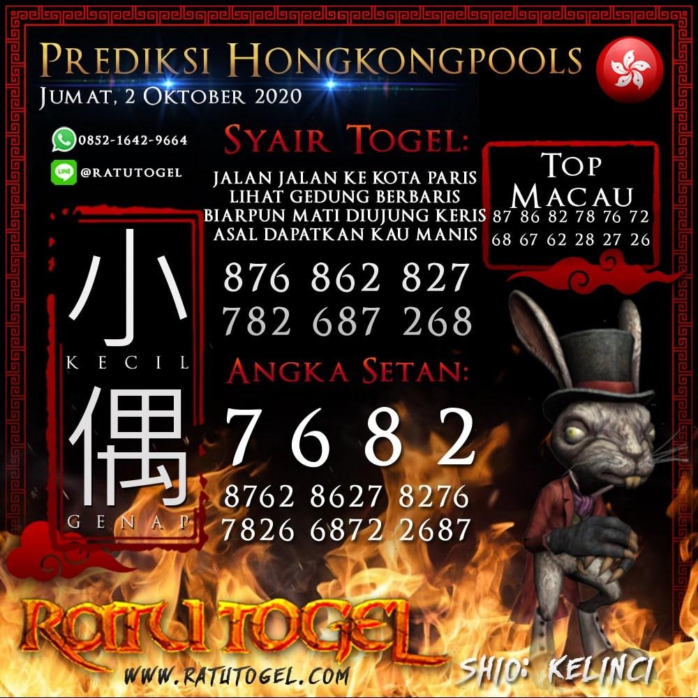 Prediksi HK Jumat 02 Oktober 2020 | Bocoran hongkongpools 90% Akurat